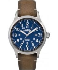 Timex TW4B01800 Erkek seferi analog yükselmiş kahverengi deri kayış izle