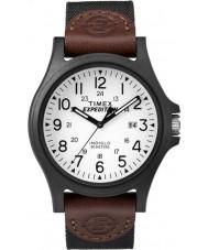 Timex TW4B08200 Erkek sefer kahverengi kumaş kayışı izle