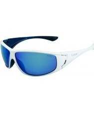 Bolle Highwood parlak beyaz, mavi polarize deniz mavi güneş gözlüğü