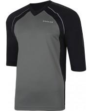 Dare2b Erkek dumanlı siyah mayo t-shirt ile çevrildi