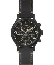 Timex TW4B09100 Mens sefer siyah deri kayışı izle
