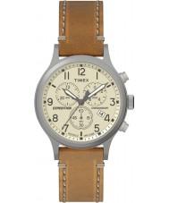 Timex TW4B09200 Mens sefer kahverengi deri kayış izle