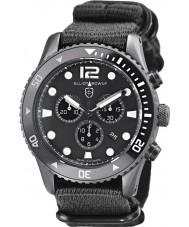 Elliot Brown 929-001-N02 Mens bloxworth siyah kumaş kayışı kronograf izle