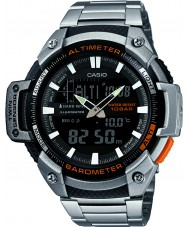 Casio SGW-450HD-1BER Erkek çekirdek gümüş altimetre ve barometre kombi izle