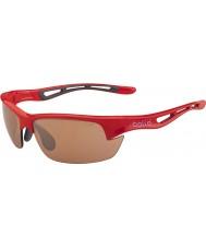 Bolle Bolt s parlak kırmızı modülatör v3 golf güneş gözlüğü