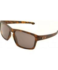 Oakley Oo9262-03 şerit mat kahverengi bağa - sıcak gri güneş gözlüğü