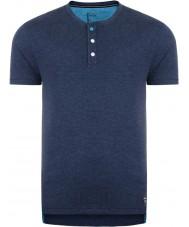 Dare2b DMT326-0D750-S Erkek düğme yukarı peacoat marn t-shirt - boyut s