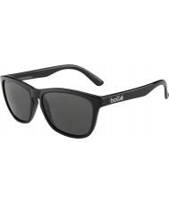 Bolle 437 Retro koleksiyonu parlak siyah polarize güneş gözlüğü tns
