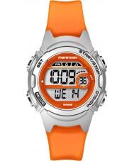 Timex TW5K96800 Bayanlar maraton orta boy portakal reçine kronograf kayış izle