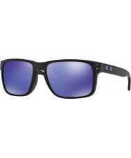 Oakley Oo9102-26 holbrook Julian Wilson mat siyah - menekşe iridyum güneş gözlüğü