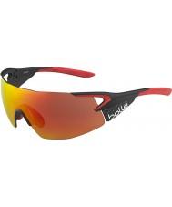 Bolle 5 eleman yanlısı parlak mat karbon kırmızı tns yangın güneş gözlüğü