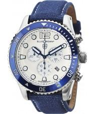 Elliot Brown 929-008-C01 Mens bloxworth mavi kumaş kayışı kronograf izle