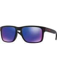 Oakley Oo9102-36 holbrook mat siyah - kırmızı iridyum güneş gözlüğü