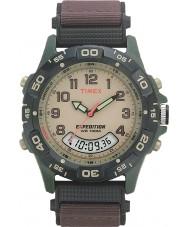 Timex T45181 Erkek krem kahverengi sefer açılan izle