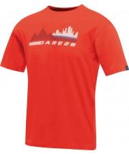 Dare2b Erkekler şehir sahnesi ateşli kırmızı t-shirt