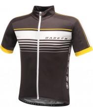 Dare2b DMT133-80040-XS Erkek mettle siyah jarse tişört - boyut xs