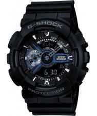 Casio GA-110-1BER Mens g-shock siyah kombi dünya saat izle
