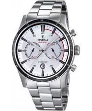 Festina F16818-1 Britanya'da 2015 tüm gümüş kronograf saat içinde mens turu