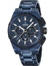 Festina F16973-1 Erkek chrono bisiklet mavi çelik kronograf izle
