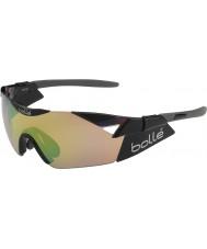 Bolle 6. His s parlak siyah modülatör kahverengi zümrüt güneş gözlüğü