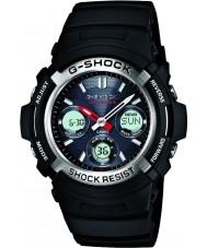 Casio AWG-M100-1AER Mens g-shock siyah radyo güneş enerjili spor saati kontrollü