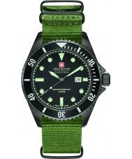 Swiss Military 6-4279-13-007 Erkek deniz aslanı yeşil naylon kayış izle