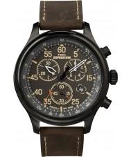 Timex T49905 siyah, kahverengi sefer alan kronograf saati mens