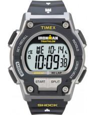 Timex T5K195 Erkek gri ironman şok 30 tur sport watch karşı