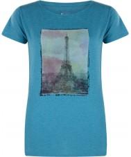Dare2b Emaye mavi renkli marl t-shirt üstünde Bayanlar kulesi