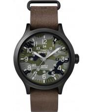 Timex TW4B06600 izci kahverengi deri kayış izle mens