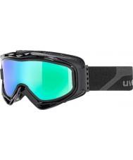 Uvex 5502132126 Duman mavi yedek lens ile yeşil ayna kayak gözlüğü - G.gl 300 mat siyah çıkarmak