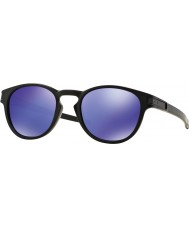Oakley Oo9265-06 mandal mat siyah - menekşe iridyum güneş gözlüğü