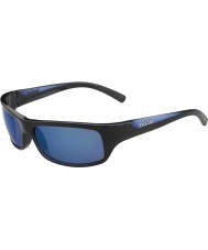 Bolle Şiddetli parlak mavi siyah polarize deniz mavi güneş gözlüğü