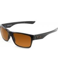Oakley Oo9189-03 İki Yüz cilalı siyah - koyu bronz güneş gözlüğü