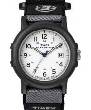 Timex T49713 siyah beyaz akordeon sefer saati mens