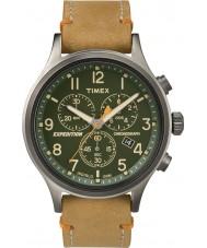 Timex TW4B04400 Erkek seferi izci kahverengi deri kronograf izle