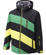 Surfanic SW121003-401-XL Erkek chevy siyah yeşil ceket - boyut xl