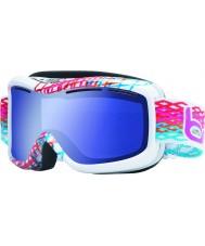 Bolle 20940 Monarch beyaz elmas - aurora mavi kayak gözlükleri