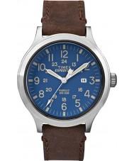 Timex TW4B06400 Erkek seferi izci kahverengi deri kayış izle