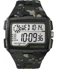 Timex TW4B02900 Erkek sefer dijital şok haki kamuflaj chrono izle