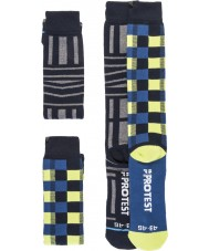 Protest Erkek grafik çift paketi çorap
