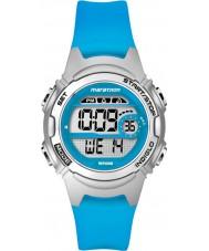 Timex TW5K96900 Bayanlar maraton orta boy mavi reçine kayışı kronograf izle