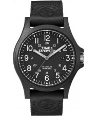 Timex TW4B08100 Erkek sefer siyah kumaş kayışı izle